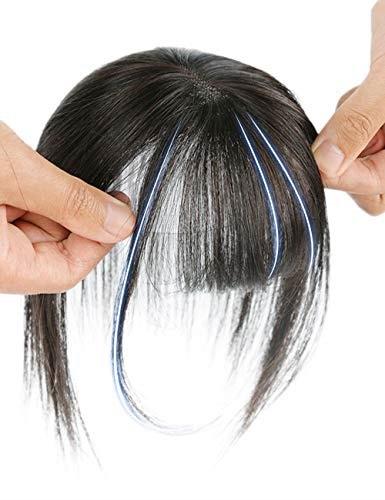HIYE 前髪 つむじ ヘアピース 部分ウィッグ 人毛100% 医療用 前髪 女性用 かつら ポイントウィッグ 薄毛 ボリュームアップ レディース