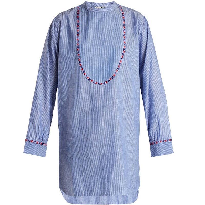ジュップ バイ ジャッキー レディース トップス【Okeechobee striped cotton top】Blue and white