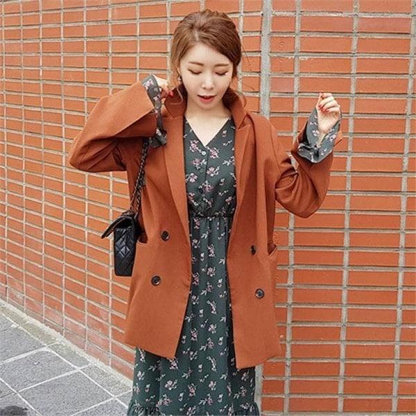 素であるディエルで小売開けたことのジャケット 女性のジャケット / 韓国ファッション/ジャケット/秋冬/レディース/ハーフ/ロング/