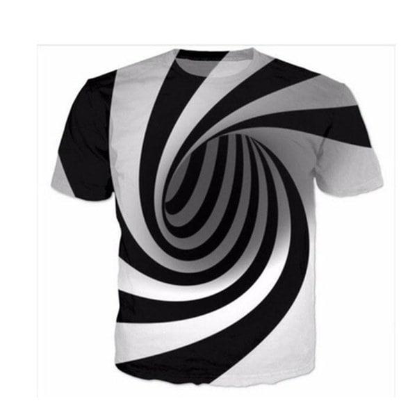 新しいファッションレディース/メンズ催眠ファニー3DプリントカジュアルTシャツ