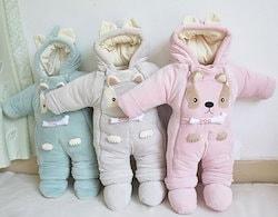08d6c9bce5a0f 棉服ダウンオールインワン 冬ロンパース 赤ちゃん 子供服 ベビー服 1619