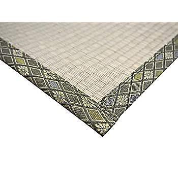 萩原 い草 上敷き カーペット グリーン 本間1畳 双目織 撥水加工 「備前」 158008600