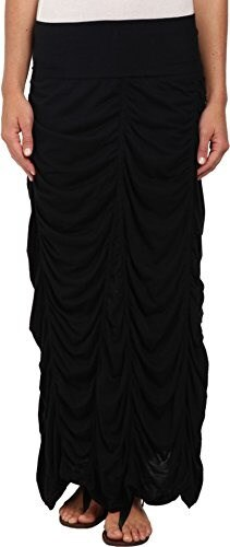 XCVI Womens Jersey Peasant Skirt Black Skirt XL (Womens 16)