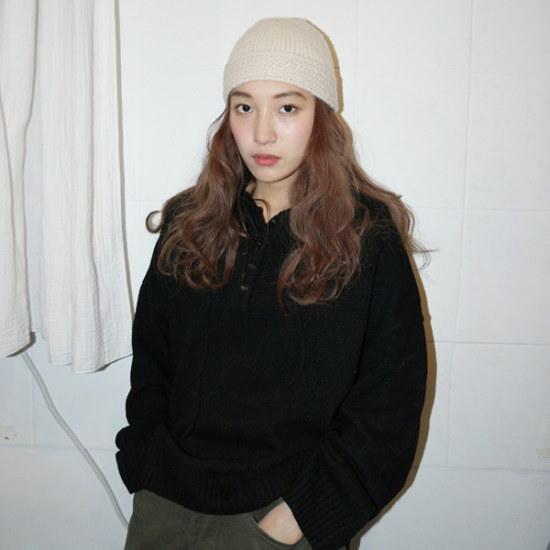 デイリー・マンデーWool big hood knitニートsrcLangTypeko ニット/セーター/ニット/韓国ファッション