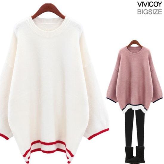 ビビ己斐ラブラインニットOP ニット/セーター/ニット/韓国ファッション
