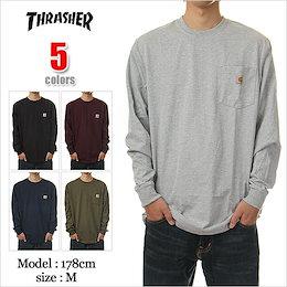 カーハート Tシャツ 長袖 CARHARTT T-SHIRTS USAモデル 大きいサイズ メンズ carhartt Tシャツ 無地 ポケット USA ロング Tシャツ ロンT 対応