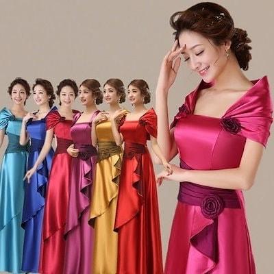 Royal Blue Satin Long Women Party Evening Dresses