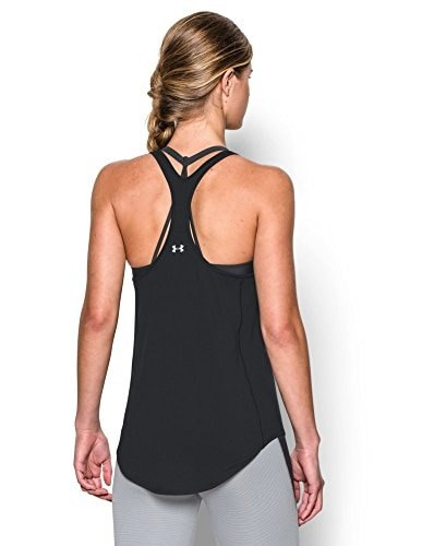 Under Armour Womens UA Technical Racer Back Tank Large Black