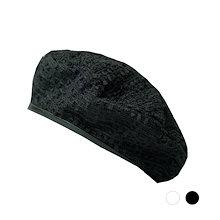 2色薄手ベレー帽