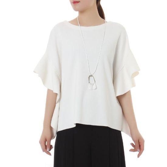 オンエンオン豪華な袖波ルージュニートNK6MP622のネックレス ロングニット/ルーズフィット/セーター/韓国ファッション
