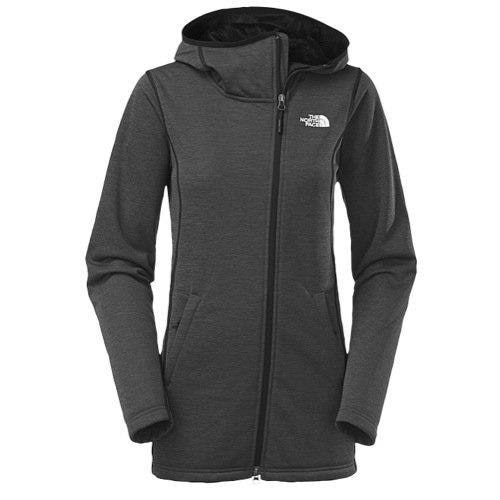 THE North Face Womens Haldee Raschel Parka, TNF Black Heather, Large