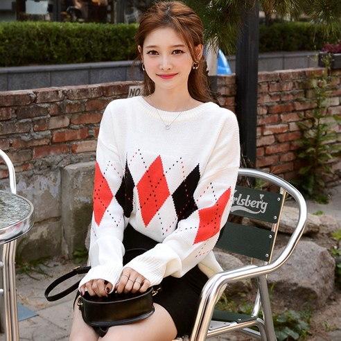 【Deepny]アーガイルラウンドkorean fashion style