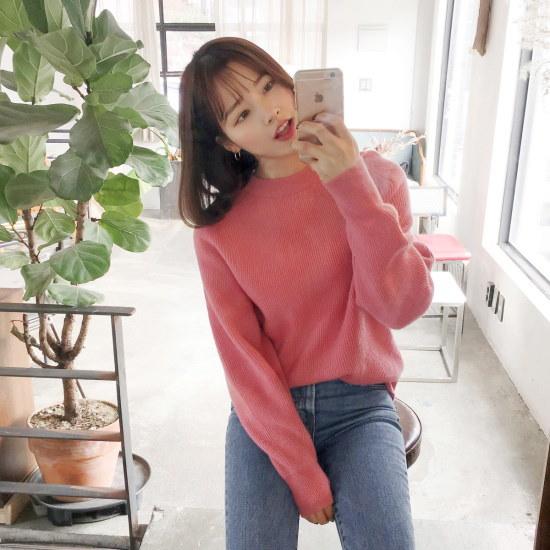 チェリーココcharming color、knitC712PHKN220ウルニトゥハッピンクゴルジ / ニット/セーター/ニット/韓国ファッション