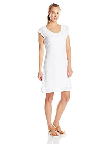Merrell Womens Flora Short Sleeve Dress, White, X-Small