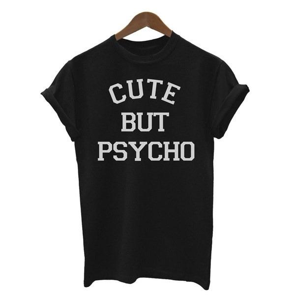女性のおかしいOネックTシャツ