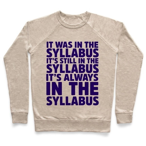 It Was in the Syllabus It s Still in the Syllabus It s ALWAYS in the Syllabus Unisex Lightweight Pul