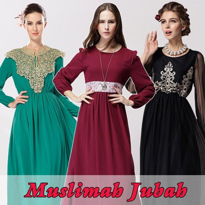 2017 イスラム教徒のドレス ★ ロングスカート ★ シフォン マキシドレス ★ ハリラヤドレス ★ ビーチドレス ★ レースワンピ ★ ボヘミアンドレス ★ ルーズフィット