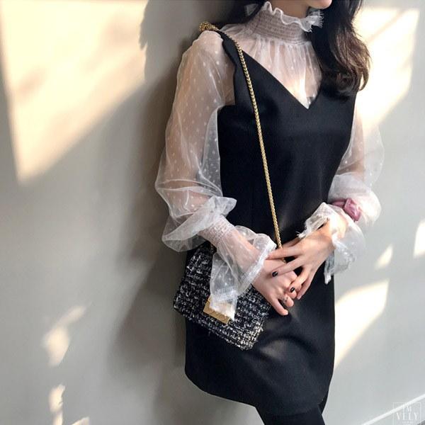 スウィートダーリンビスチェワンピース/韓国ファッション/イムブリー/IMVELY