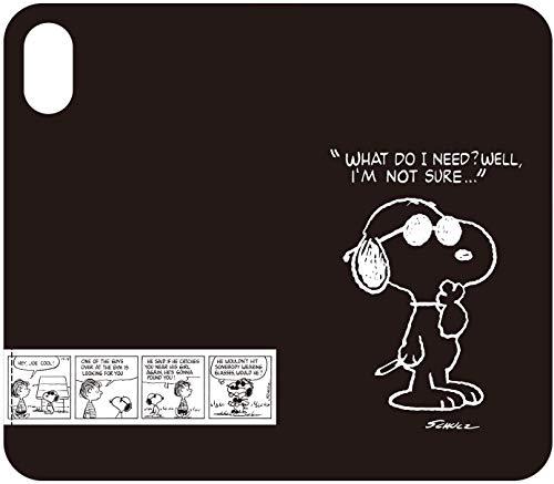 【カラー:ジョー・クール】iPhoneXS iPhoneX ピーナッツ ケース キャラクター スマホ カバー 手帳型ケース 手帳型 手帳ケース ダイアリー フリップ かわいい スヌーピー チャーリー