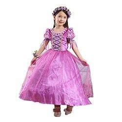 0823f74c62094 DreamHigh 女児用 ハロウィン プリンセスラプンツェルコスチュームドレス 3~10採用 7-8 Years