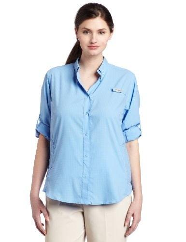 Columbia Womens Tamiami II Long Sleeve Shirt- Plus, White Cap, 3X