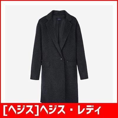 [ヘジス]ヘジス・レディースHSCO7D001CGウールケシミオワンボタンコート /ポコート/コート/韓国ファッション
