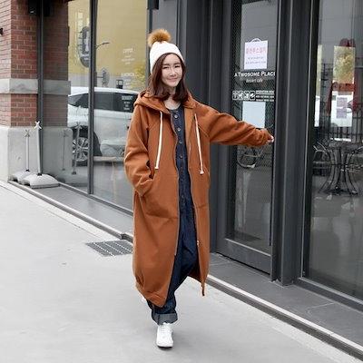 ジョイ王パクシロングフドゥのジャンパー2color男女共用F、XL99まで可能なサイズでイプコドェッ 韓国ファッション 上品 体型カバー 大きいサイズ ゠