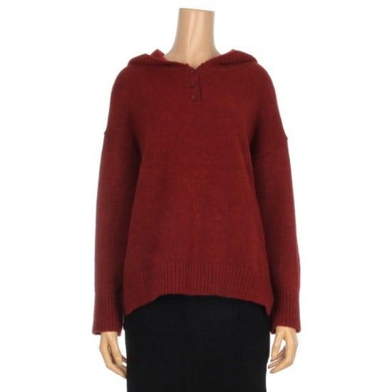 レコブ女性衣類フードボタンニートLZ4182KN005X ニット/セーター/韓国ファッション
