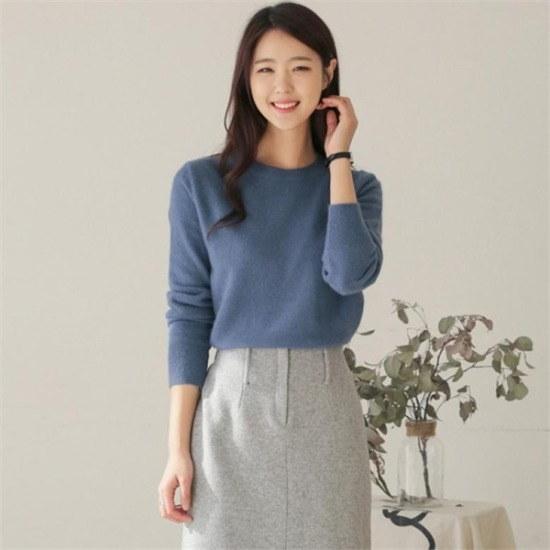 るみさん行き来するようにるみさんるみさんマールアンゴラベーシックニット ニット/セーター/ニット/韓国ファッション