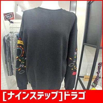 [ナインステップ]ドラゴン小売自首マンツーマン /フッド/ジップアップティーシャツ/ 韓国ファッション