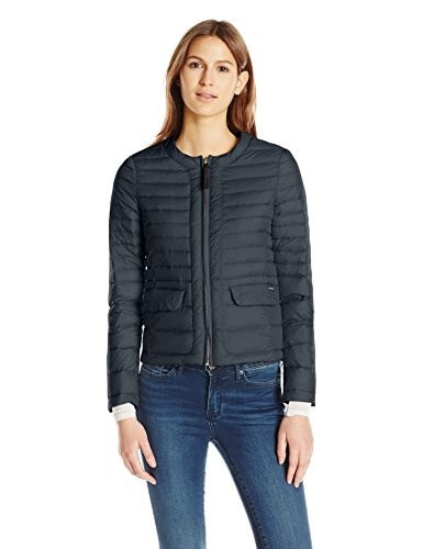 Woolrich John Rich & Bros. Womens Sundance Packable Down Jacket, Dark Navy, Medium