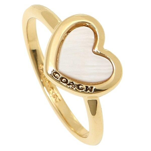 a38613c2fee1 コーチ リング アクセサリー アウトレット COACH F67110 GDWHT PEARL HEART RING レディース 指輪  WHITE/GOLDの