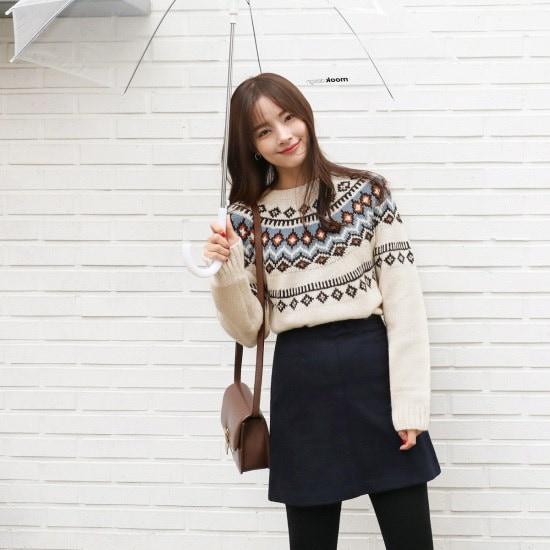 チェリーココmix color、knitC710MSKN87冬ニットパターンインナーシンプルフォアイン パターンニット/ニット/セーター/韓国ファッション