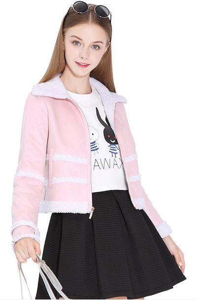 ジャケット  秋新作 ファッション ひも付き フリース 上品  コットン スイート スクール ツイードジャケット