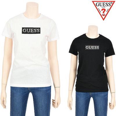 [AK公式ストア]【GUESS jean】【ゲス】女性スパンコールGUESS半袖Tシャツ(YJ2K6435)