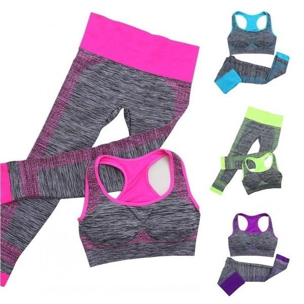 Fitness Workout Clothing Women s Gym Sports Running Girls Slim Leggings+Tops