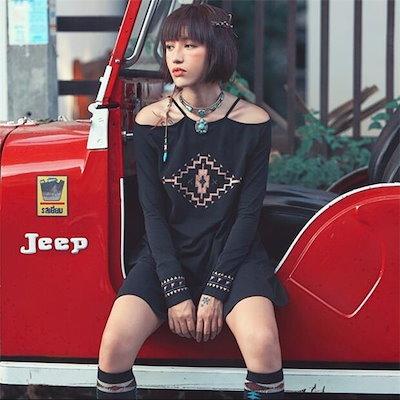 レディースワンピース 通勤/旅行 無地 レジャー セクシー クラシック 着痩せ  ファッション 大人気 春夏秋 レディースワンピース