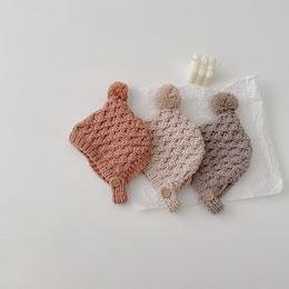男の子と女の子の冬の暖かいパイナップルニット帽子(0〜3歳)