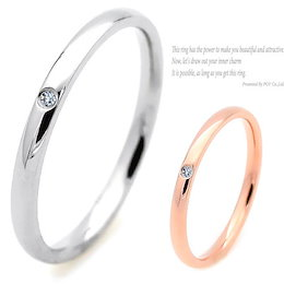 CZ ダイヤ/リング/シンプル/指輪/ring/シルバー/ピンクゴールド/送料無料