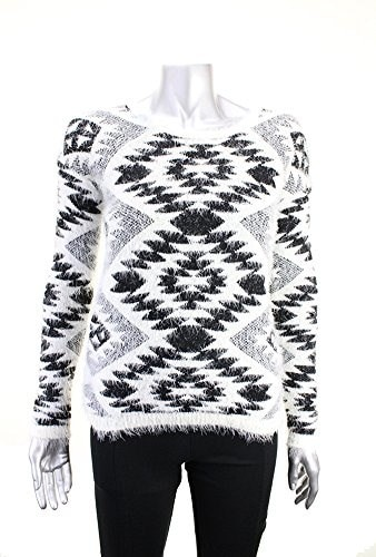 Say What New Black Aztec Print Long Sleeve Sweater Msrp $49 DBFL