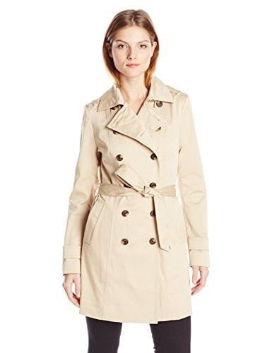 Soia & Kyo Womens Lovelle Trench Coat, Sand, Medium