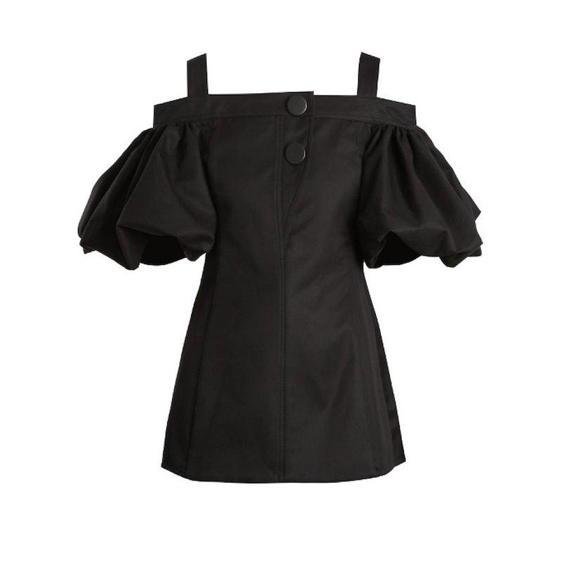 エラリー レディース トップス オフショルダー【Bordeaux off-the-shoulder cotton top】Black