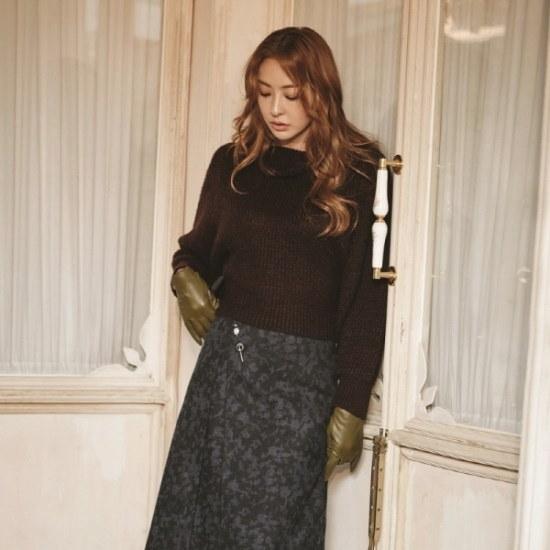 さんパクシしたプルオーバー・ニットAD飾り紐SPUCY2933 ロングニット/ルーズフィット/セーター/韓国ファッション