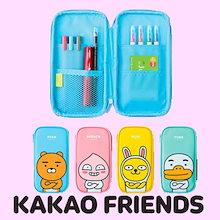 【Kakao friends】カカオフレンズビックヘッドマルチペンケース(縦型)/Kakao friends multi pencase vertical type/韓国KAKAO FRIENDS正品