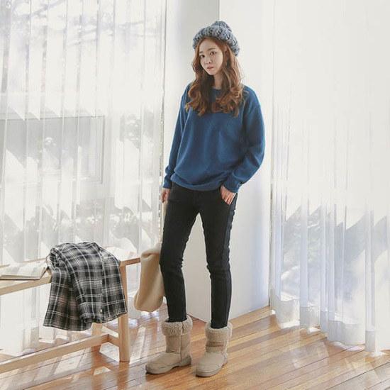 ピンクシスレーウェイドゴッキモポケットニット ニット/セーター/ニット/韓国ファッション