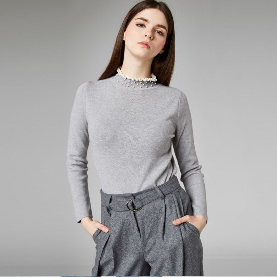 ページフリンPearl high neck knitP7DKN066 ニット/セーター/カラーニット/韓国ファッション