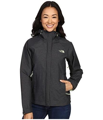 Womens The North Face Venture Jacket (X-Small, TNF Dark Grey Heather/Budding Green)