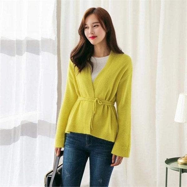 るみさんカラーアンゴララップカディゴンnew 女性ニット/カーディガン/韓国ファッション