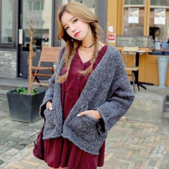 プラン第二行き来するようにプラン第二マントカディゴン ニット/セーター/ニット/韓国ファッション