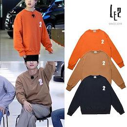 国内未入荷【LE2】(レトゥー) 韓国ブランド ジミン テテ 2 Logo Sweatshirt スウェット トレーナー 『送料無料』 韓国直送
